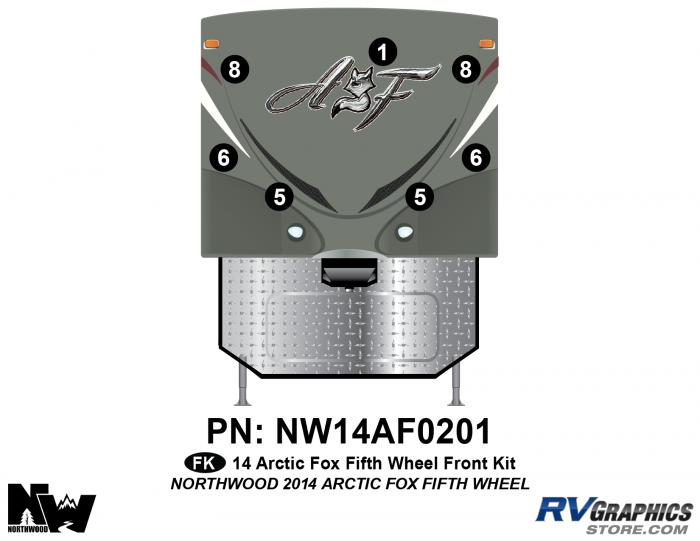 2014 Arctic Fox Fifth Wheel Front Kit