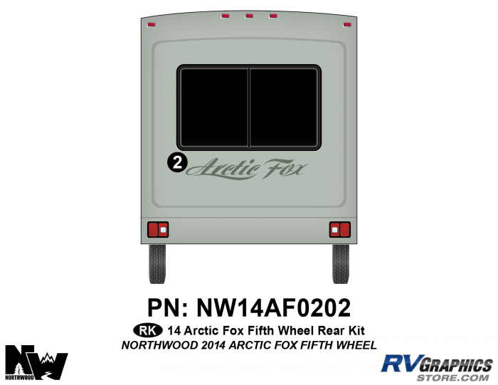 2014 Arctic Fox Fifth Wheel Rear Kit