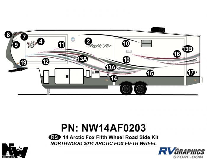 2014 Arctic Fox Fifth Wheel Left Side Kit