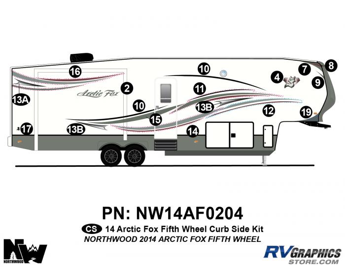 2014 Arctic Fox Fifth Wheel Right Side Kit