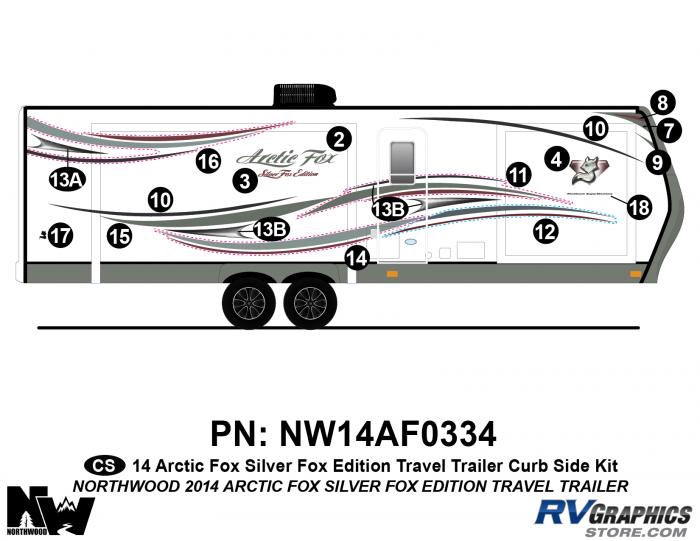 2014 Arctic Fox Silver Fox Edition TT Right Side Kit