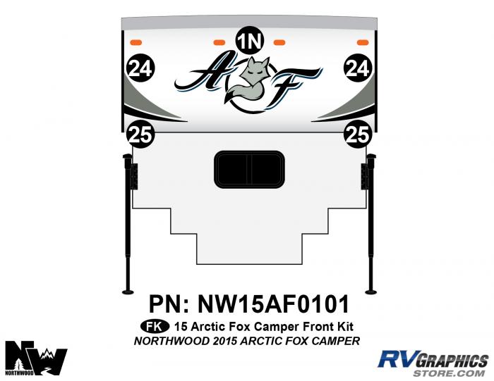 2015 Arctic Fox Camper Front Kit