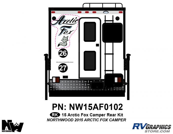 2015 Arctic Fox Camper Rear Kit
