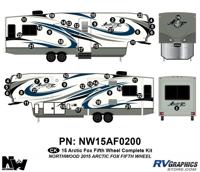 2015 Arctic Fox Fifth Wheel Complete Kit