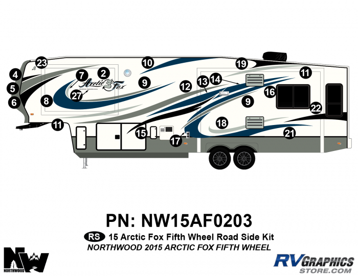 2015 Arctic Fox Fifth Wheel Left Side Kit