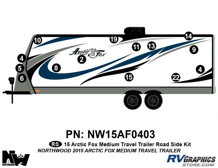 2015 Arctic Fox Medium Travel Trailer Left Side Kit