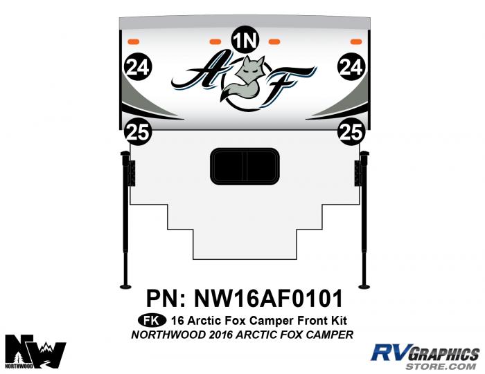 2016 Arctic Fox Camper Front Kit