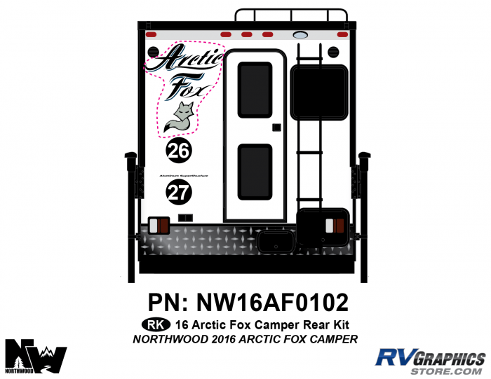 2016 Arctic Fox Camper Rear Kit