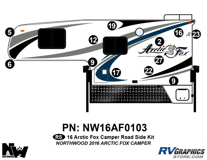 2016 Arctic Fox Camper Left Side Kit