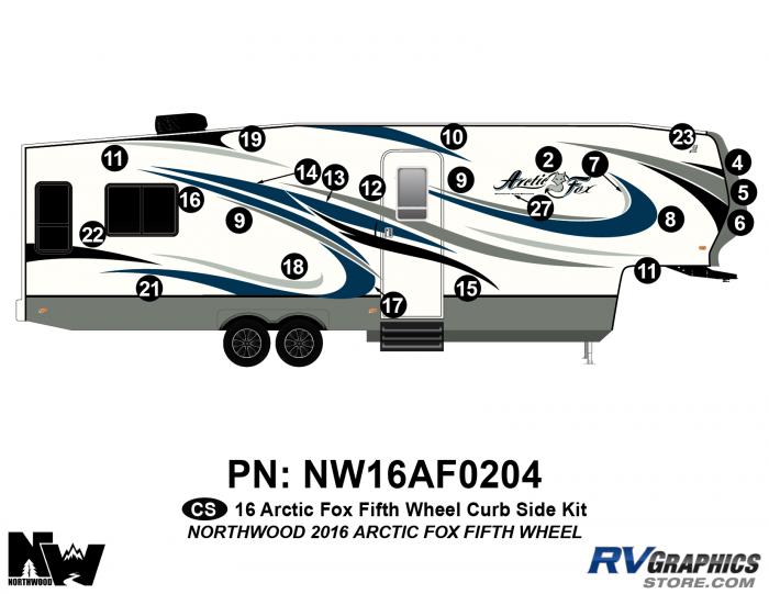 2016 Arctic Fox Fifth Wheel Right Side Kit