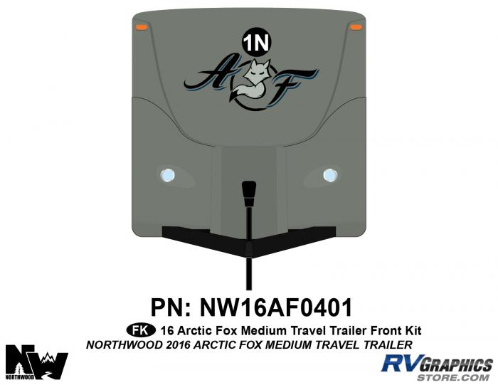 2016 Arctic Fox Medium Travel Trailer Front Kit