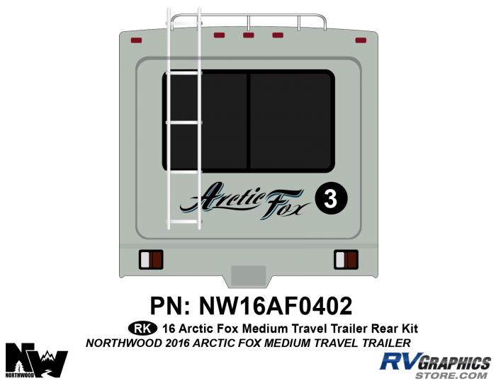 2016 Arctic Fox Medium Travel Trailer Rear Kit