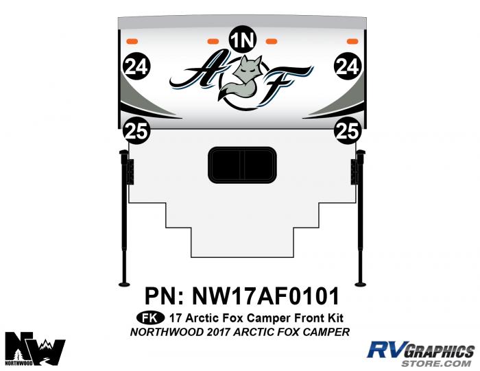 2017 Arctic Fox Camper Front Kit