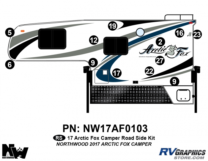 2017 Arctic Fox Camper Left Side Kit