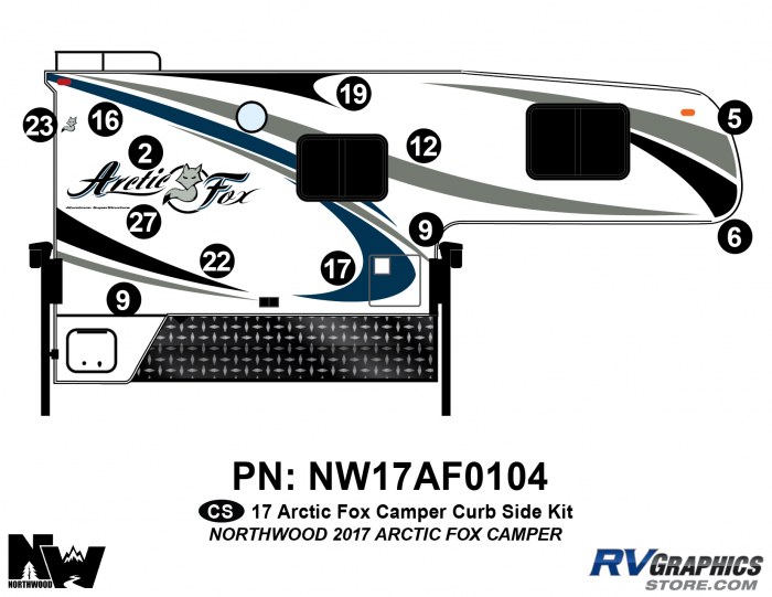 2017 Arctic Fox Camper Right Side Kit