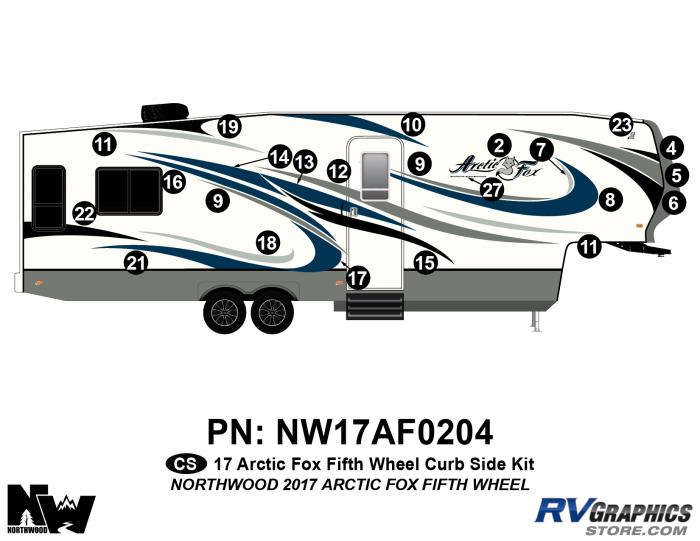 2017 Arctic Fox Fifth Wheel Right Side Kit