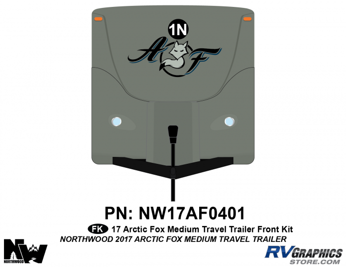 2017 Arctic Fox Medium Travel Trailer Front Kit