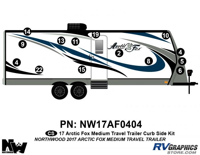2017 Arctic Fox Medium Travel Trailer Right Side Kit