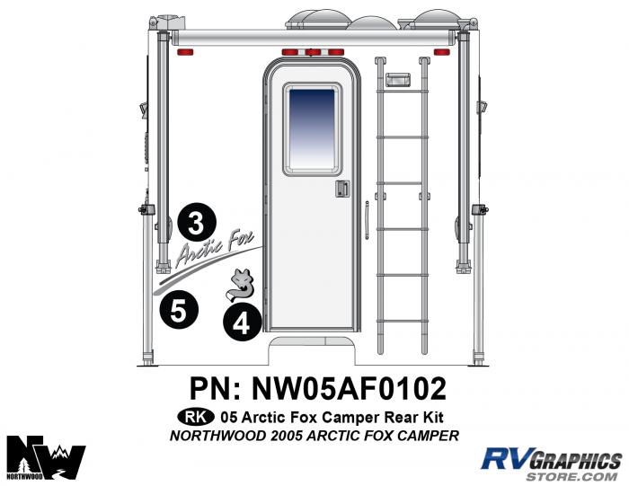 2005 Arctic Fox Camper Rear Kit