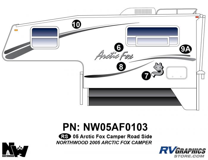 2005 Arctic Fox Camper Left Side Kit