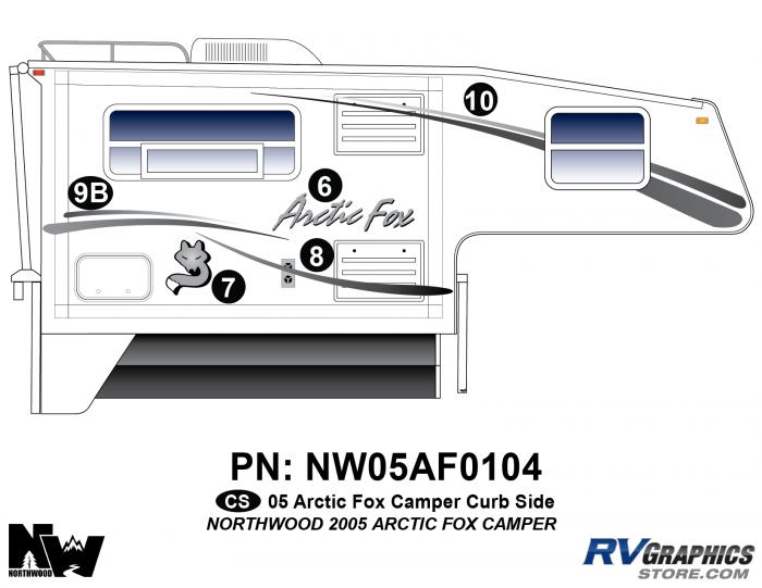 2005 Arctic Fox Camper Right Side Kit