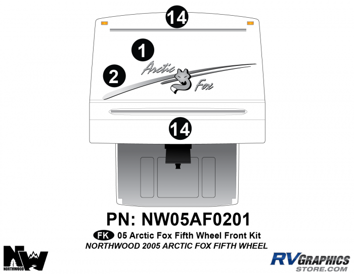 2005 Arctic Fox Fifth Wheel Front Kit