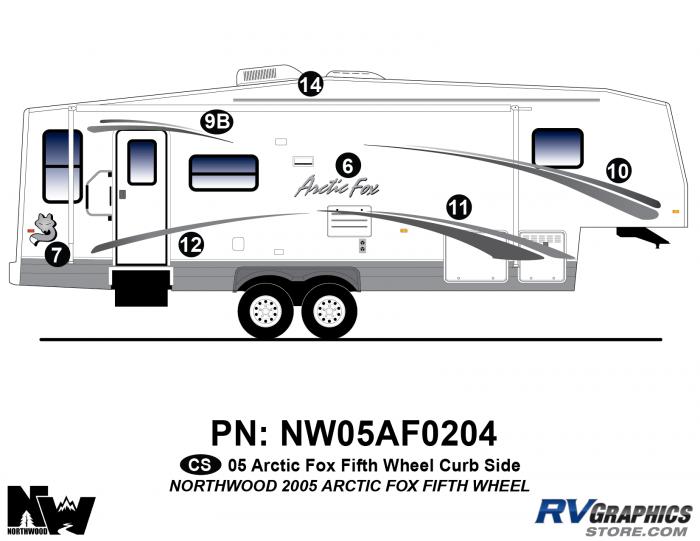 2005 Arctic Fox Fifth Wheel Right Side Kit