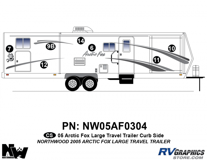2005 Arctic Fox Large Travel Trailer Right Side Kit