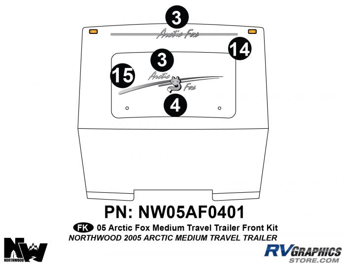 2005 Arctic Fox Medium Travel Trailer Front Kit