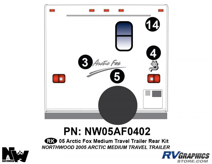 2005 Arctic Fox Medium Travel Trailer Rear Kit