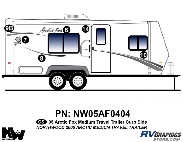 2005 Arctic Fox Medium Travel Trailer Right Side Kit