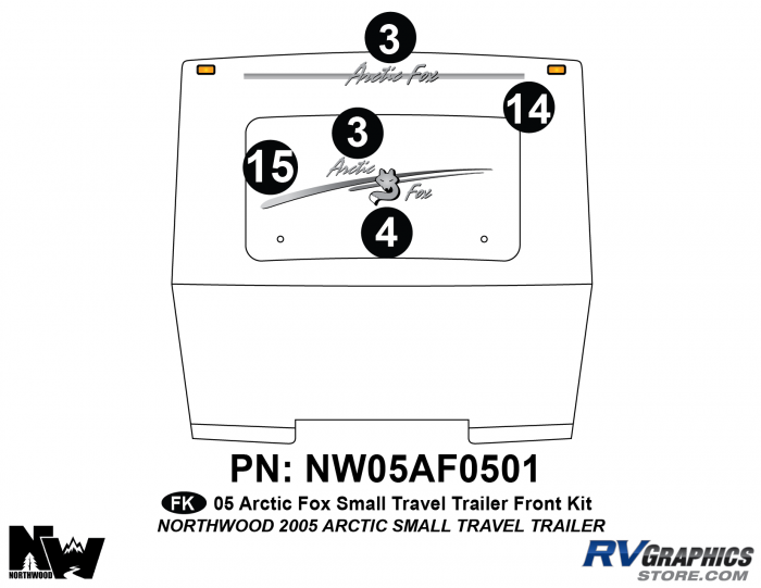 2005 Arctic Fox Small Travel Trailer Front Kit