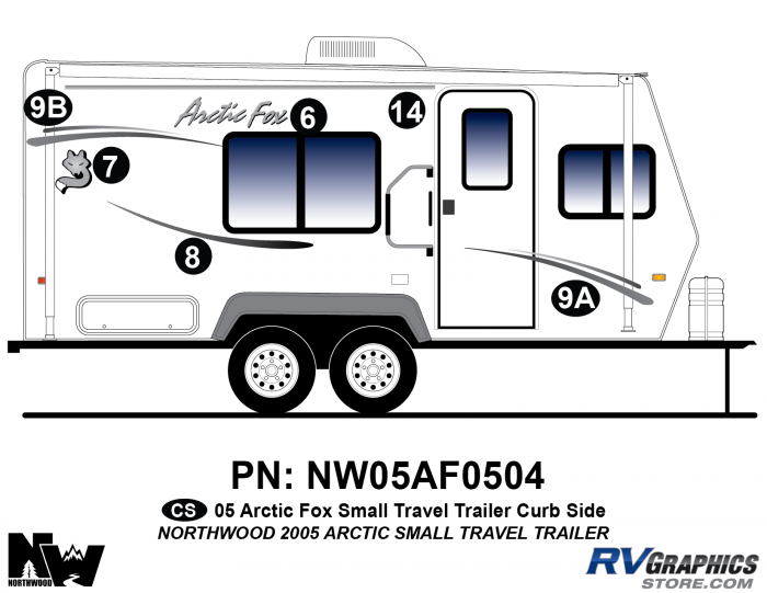 2005 Arctic Fox Small Travel Trailer Right Side Kit