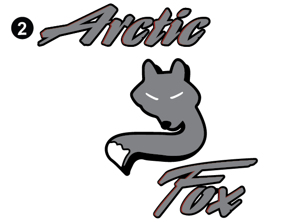 Vertical Arctic Fox Logo