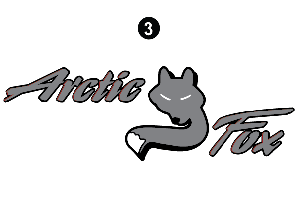 Horizontal Arctic Fox Logo