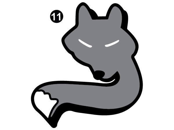 "3"" Small Fox Head"