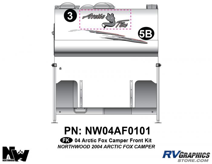 2004 Arctic Fox Camper Front Kit