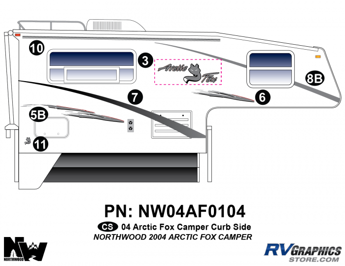 2004 Arctic Fox Camper Right Side Kit