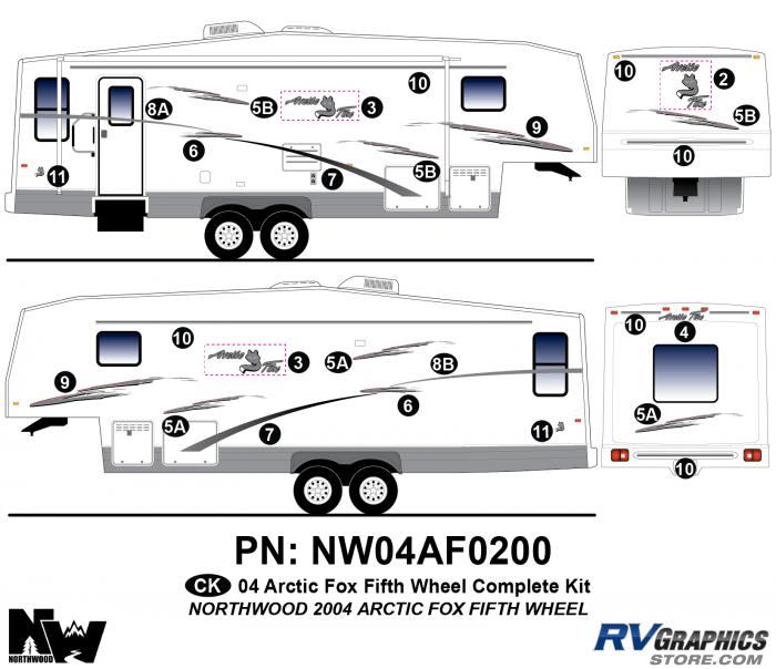 2004 Arctic Fox Fifth Wheel Complete Kit