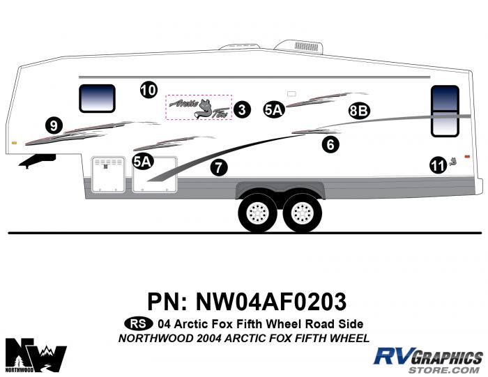 2004 Arctic Fox Fifth Wheel Left Side Kit