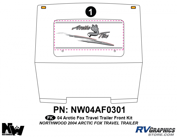 2004 Arctic Fox Large Travel Trailer Front Kit