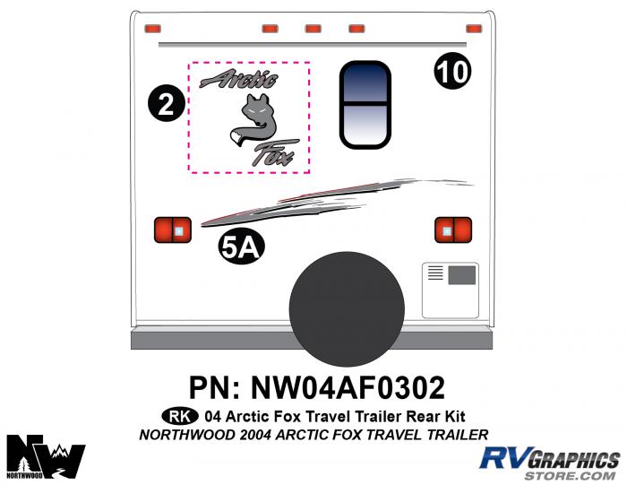2004 Arctic Fox Large Travel Trailer Rear Kit