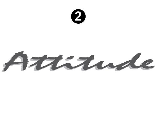 """Small Attitude Logo 30"""""""