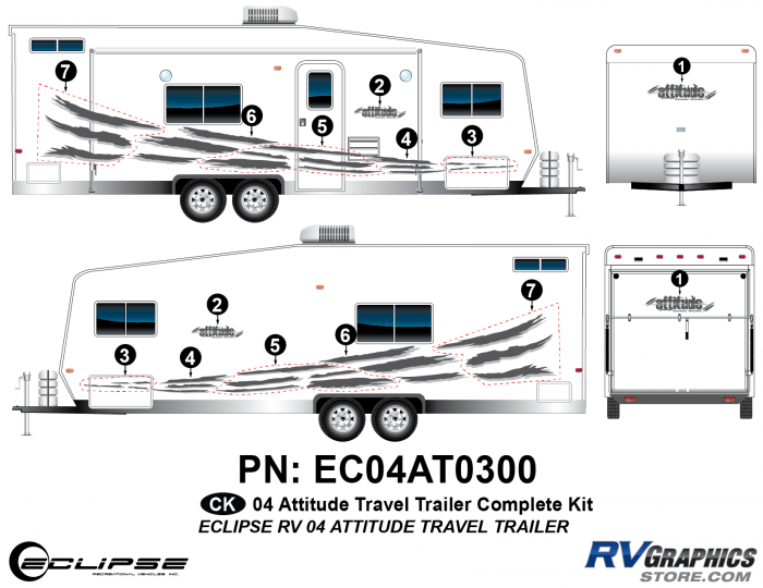 2004 Attitude Travel Trailer Complete Kit