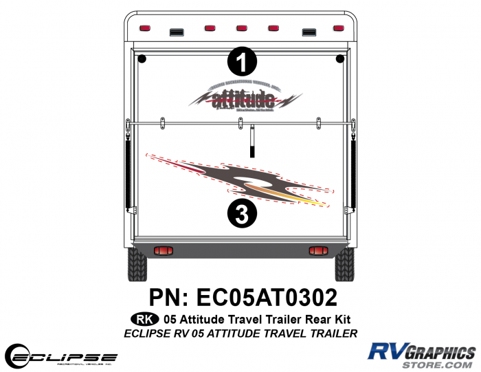 2005 Attitude Travel Trailer Rear Kit