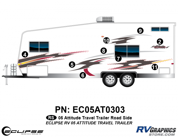 2005 Attitude Travel Trailer Left Side Kit