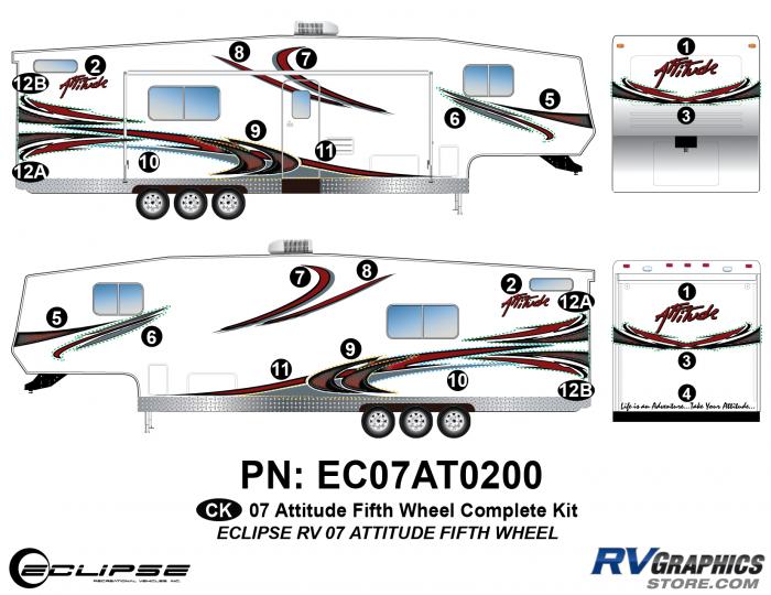 2007 Attitude Fifth Wheel Complete Graphics Kit