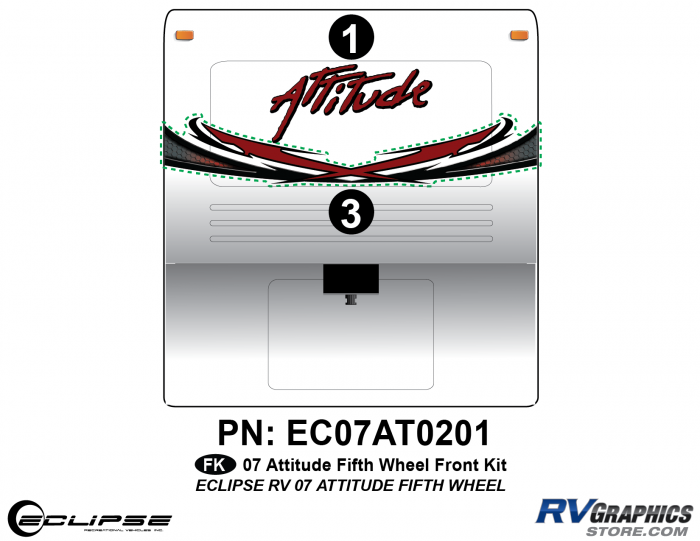 2007 Attitude Fifth Wheel Front Graphics Kit