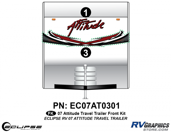 2007 Attitude Travel Trailer Front Graphics Kit
