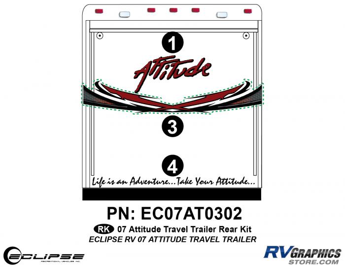 2007 Attitude Travel Trailer Rear Graphics Kit